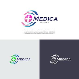 Медицинская клиника бизнес здоровье логотип дизайн символ значок
