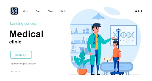 Medical clinic landing page template