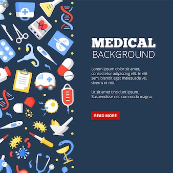 Medical clinic landing page vector template treatment center
