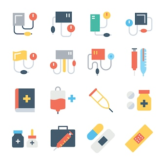 Medical color icons set