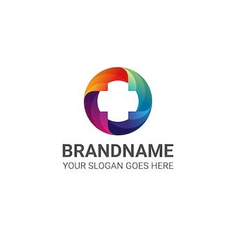 Medical colorful cross logo template