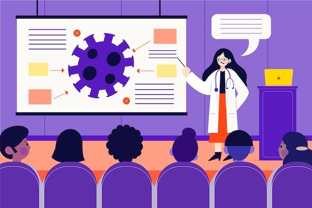 Иллюстрация медицинской конференции