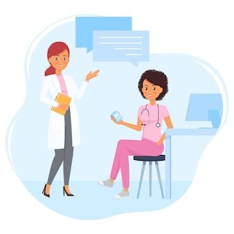 医師と看護師の間の医療相談