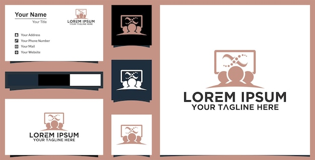 Medical cross family health logo and business card inspiration premium vector