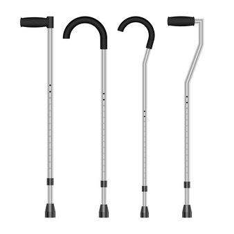 Medical crutches set  design illustration isolated on white background