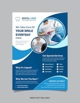Medical dental flyer template premium