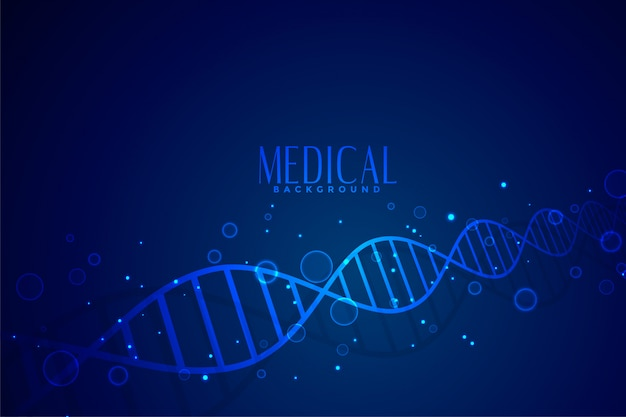 Medical dna in blue color background design