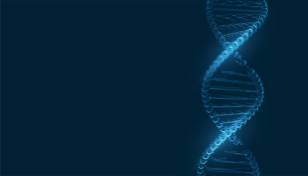 Medical dna structure background with text space