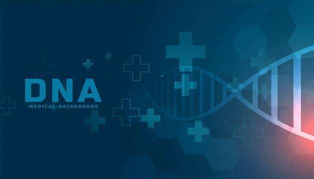 Medical dna structure health care background design