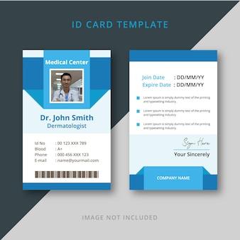 Medical doctor id card design
