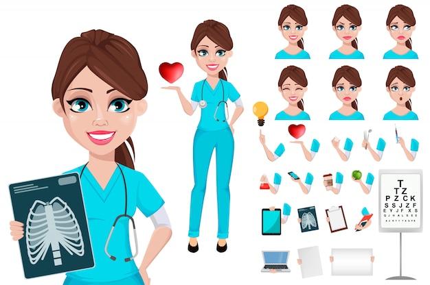 Medical doctor woman. medicine, healthcare concept