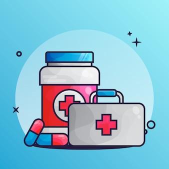Medical drug icon