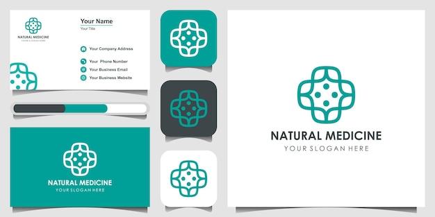 Медицинский эко логотип значок дизайн шаблона с крестом и плюс. векторный знак.
