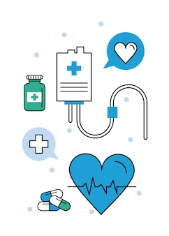 Medical elements electrocardiogram