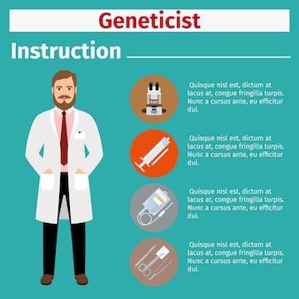 Medical equipment instruction for geneticist
