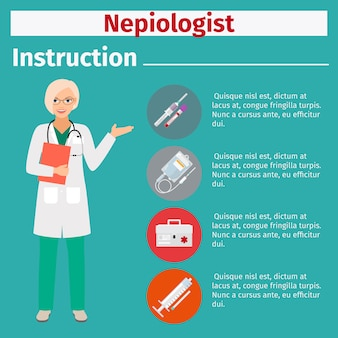 Medical equipment instruction for nepiologist