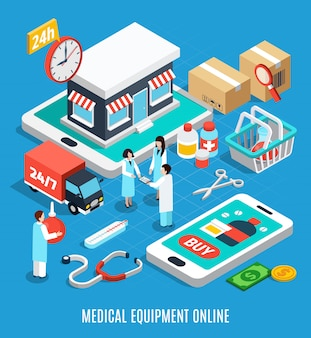 Medical equipment isometric