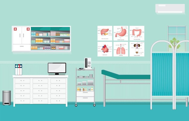 診察または内診室の診察