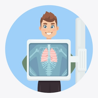Medical examination of respiratory infections for surgery