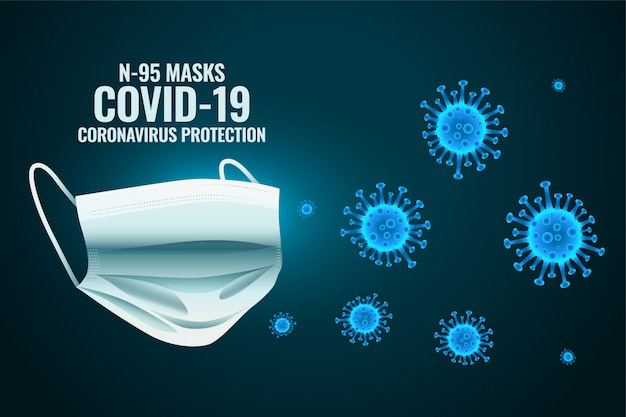 Medical face mask protecting coronavirus to enter