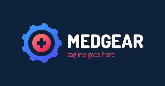 Medical gear logo template.