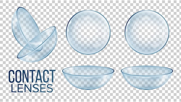 Medical glass contact optical lenses