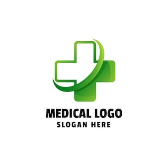 Medical gradient logo template
