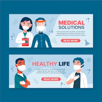 Medical health care banner template