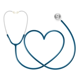 Medical and health care concept, doctor's stethoscope isolated on white background.