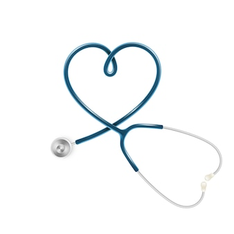 Medical and health care concept, doctor s stethoscope isolated