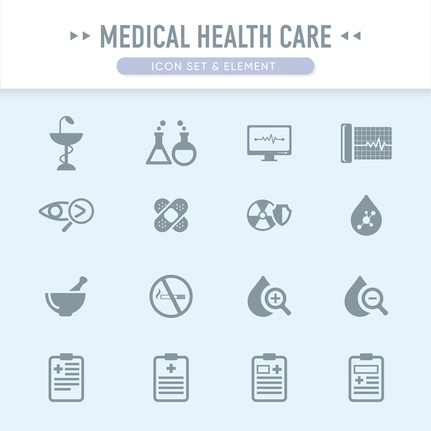 The medical health care icon set