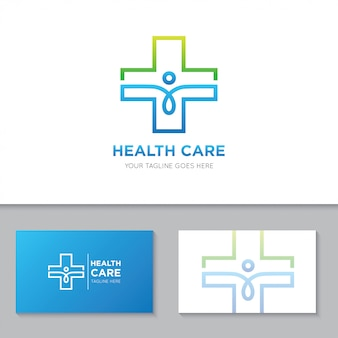 Medical health care logo and icon illustration