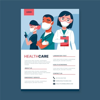 Medical health care poster template