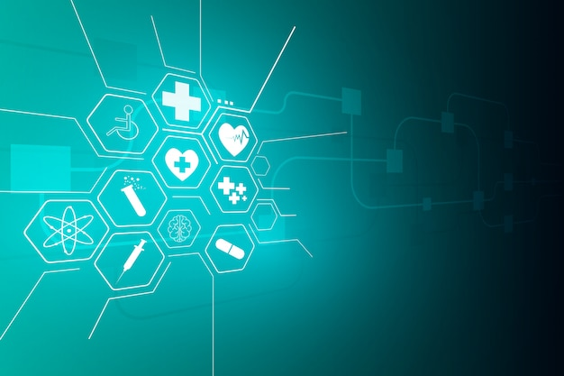 Medical health care science innovation background