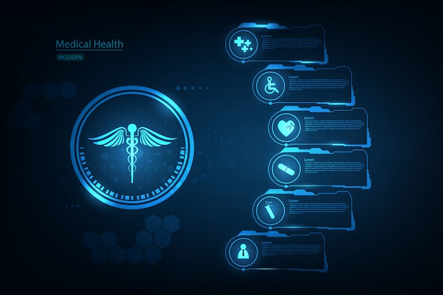 Medical health care science innovation concept background