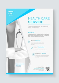의료 의료 서비스 디자인 템플릿