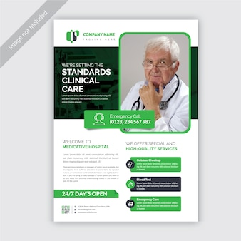 Medical and health flyer template