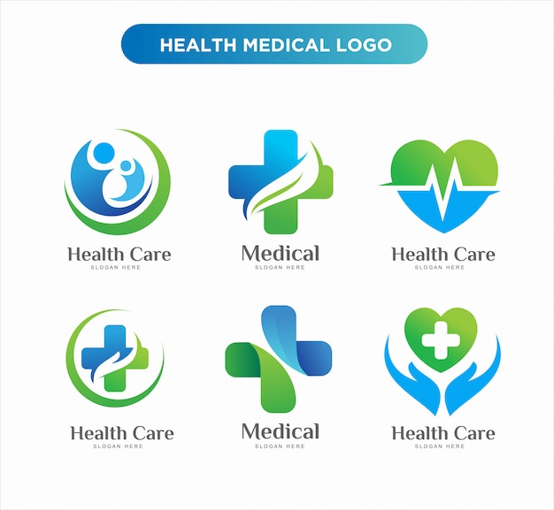 Medical health logo design templates