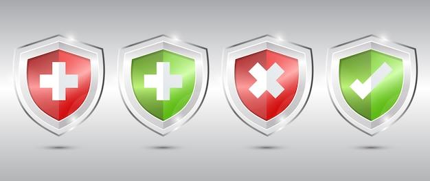 医療健康保護シールドクロスとチェック。