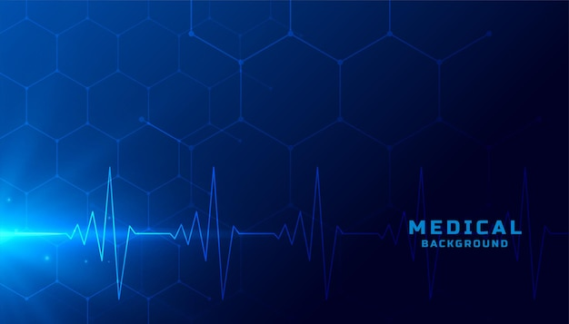 Medical healthcare background with heart beat lines