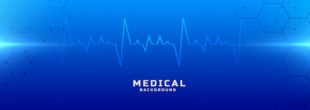 Medical and healthcare blue background banner