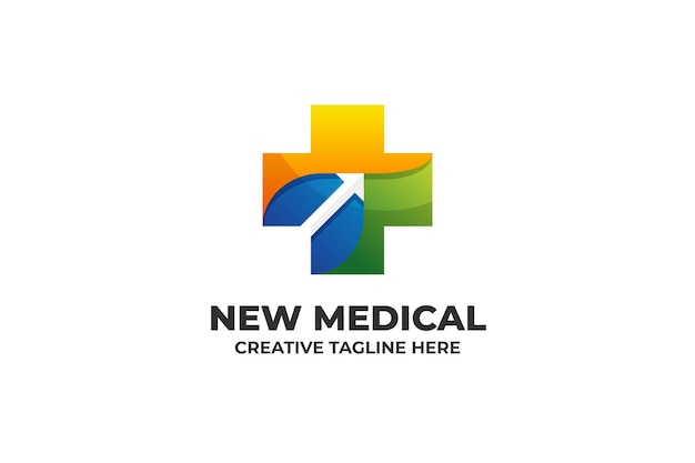 Medical healthcare colorful gradient logo