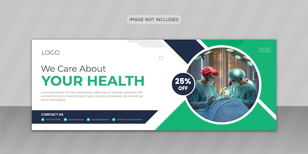 Medical healthcare facebook 표지 사진 디자인 또는 웹 배너 디자인