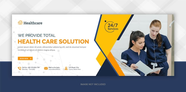 Medical and healthcare facebook cover photo and social media web banner
