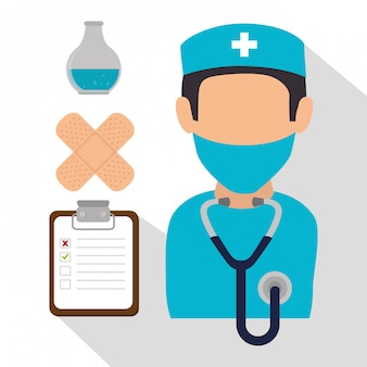 Medical healthcare graphic design