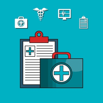Medical healthcare isolated icon