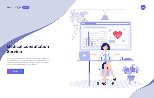 Medical and healthcare online consultation banner