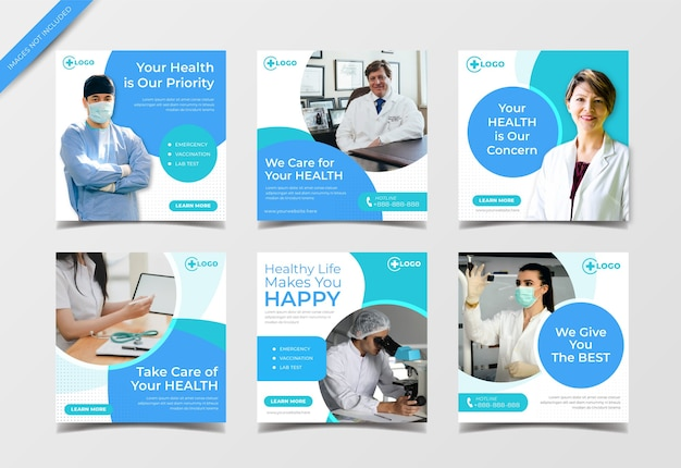Медицинский баннер в социальных сетях для шаблона сообщения instagram