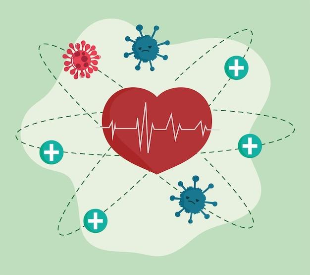 Медицинское сердцебиение и коронавирус
