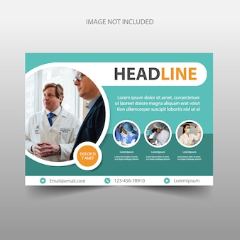 Medical hospital flyer template